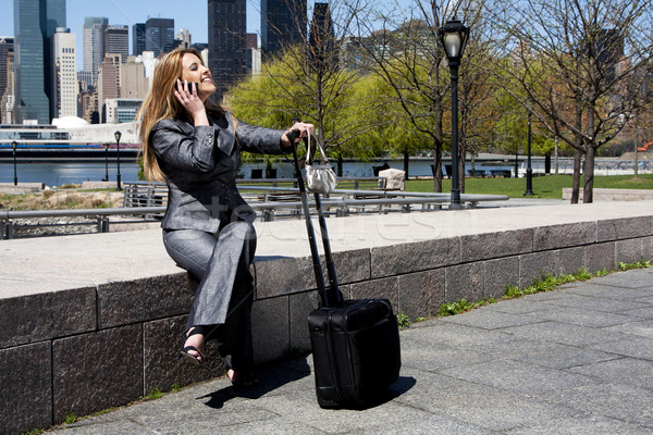 Stock photo: Entrepreneur woman on phone