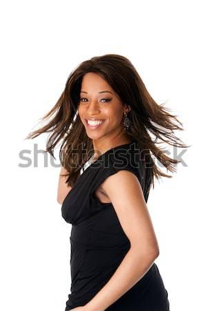Africaine femme d'affaires cheveux belle heureux souriant Photo stock © phakimata