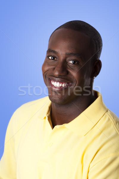 Boldog afroamerikai férfi arc jóképű vállalati Stock fotó © phakimata