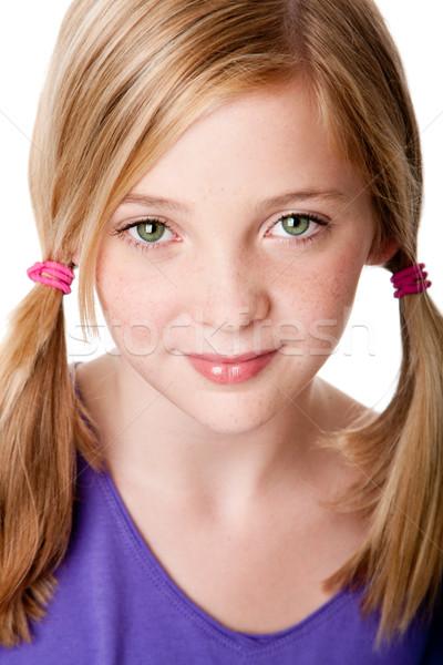 Beauty face of  teenager girl Stock photo © phakimata