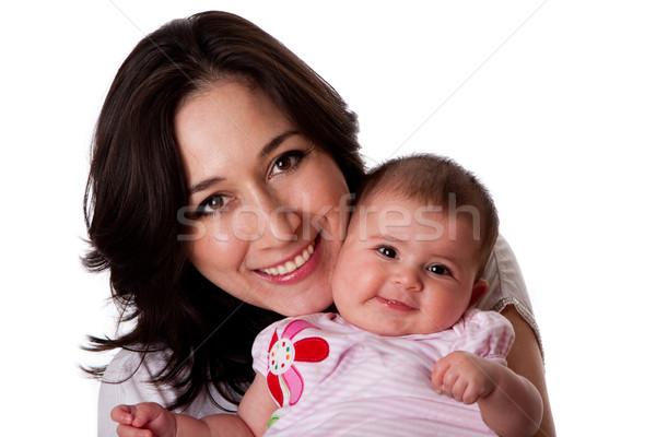 Photo stock: Famille · heureuse · mère · fille · heureux · souriant · famille