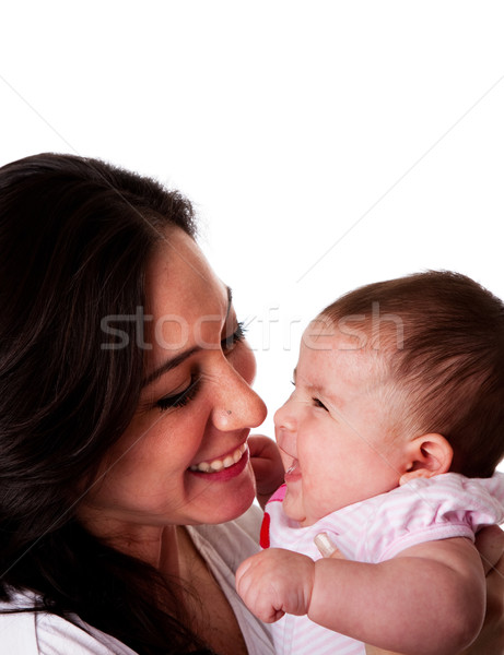 Mother and Daughter having fun laughing Stock photo © phakimata