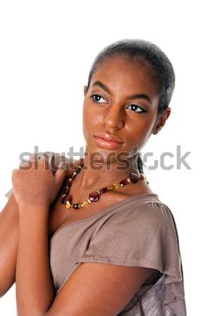 Stock photo: Beautiful African female face