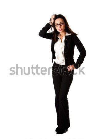 Stressed business woman Stock photo © phakimata