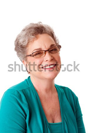 Beautiful Happy smiling senior woman face Stock photo © phakimata