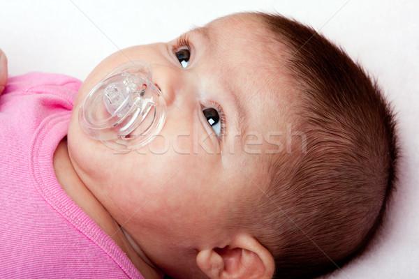 Belle hispanique bébé Photo stock © phakimata