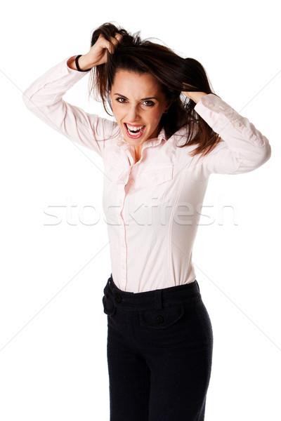 Femme d'affaires belle réussi Photo stock © phakimata