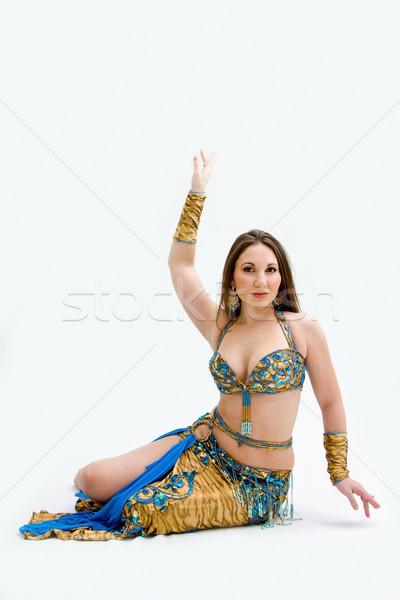 Ventre danseur bleu belle étage Photo stock © phakimata