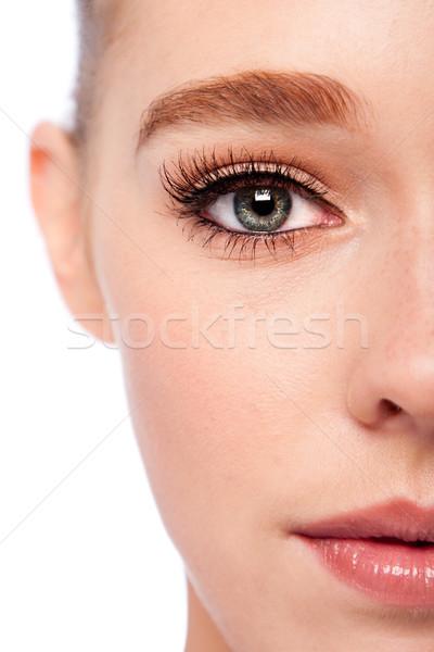 Beauté oeil visage belle sourcil Photo stock © phakimata