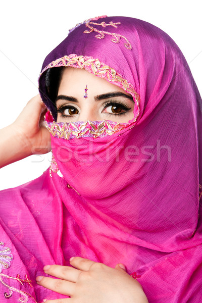 Indian Hindu woman with headscarf Stock photo © phakimata