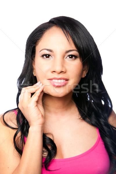 Beautiful skin - woman face Stock photo © phakimata