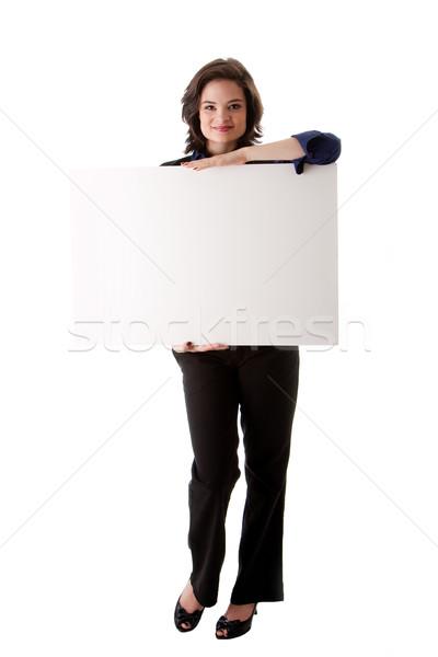 Jeunes femme d'affaires belle brunette Photo stock © phakimata