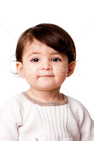 Cute baby toddler face Stock photo © phakimata