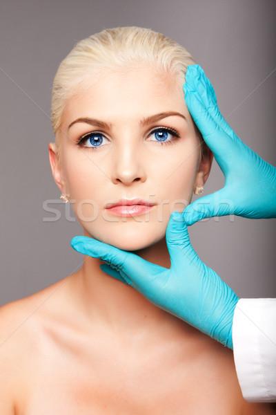 Photo stock: Cosmétiques · plastique · chirurgien · toucher · visage · belle