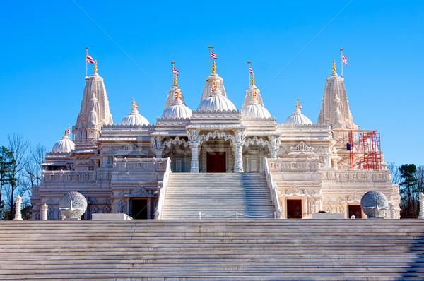 Hindu Mandir Temple made of Marble Stock photo © phakimata