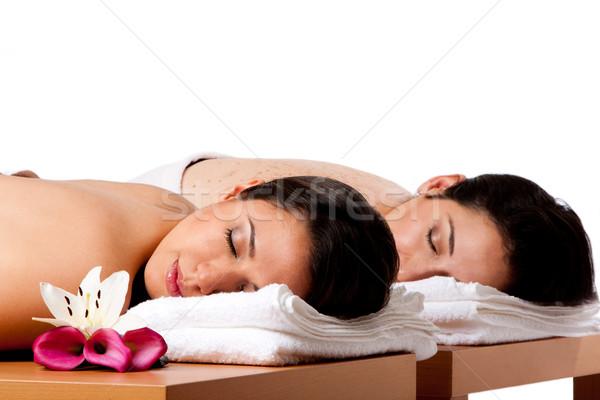 Women ready for spa massge Stock photo © phakimata