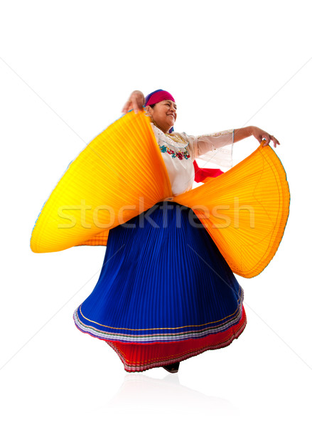 Dancing Latin Gypsy woman Stock photo © phakimata