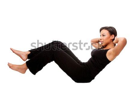 Photo stock: Fitness · santé · exercice · jeunes · heureux · belle · femme