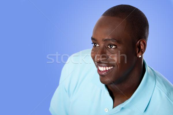 Stock fotó: Boldog · afroamerikai · üzletember · arc · jóképű · vállalati