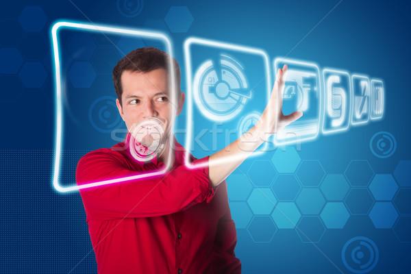 Future business interface solution Stock photo © phakimata