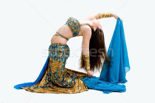Ventre danseur bleu belle voile Photo stock © phakimata