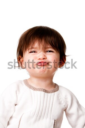 Funny baby toddler expression Stock photo © phakimata