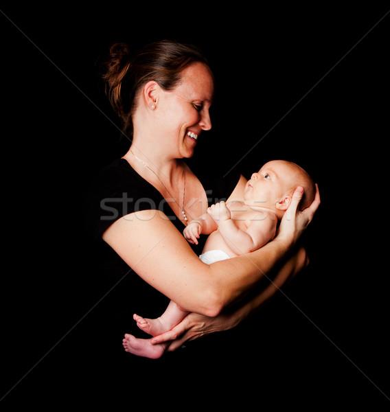Heureux mère bébé souriant Photo stock © phakimata