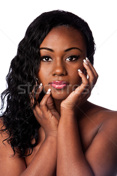 Female black beauty face Stock photo © phakimata