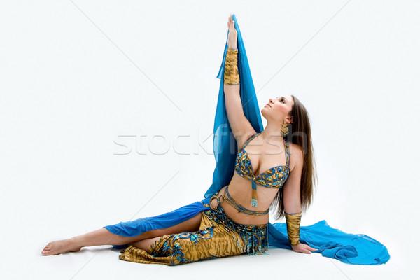 腹 ダンサー 青 美しい 階 ストックフォト © phakimata