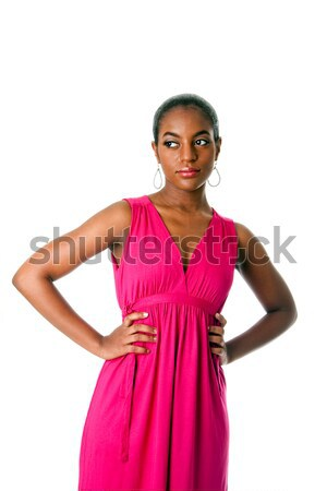 Stock photo: African business woman in dress
