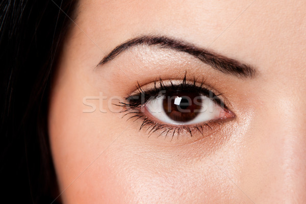 Eyebrow and eye Stock photo © phakimata