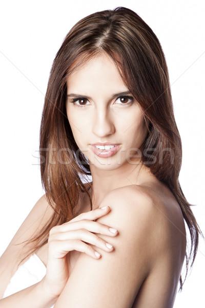 Belle visage cheveux femme magnifique peau Photo stock © phakimata