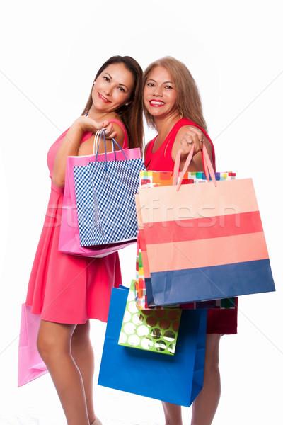 Heureux femmes belle amis mère Photo stock © phakimata