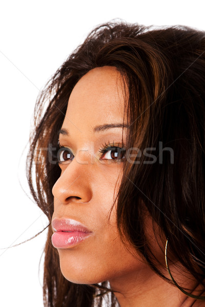 Photo stock: Visage · africaine · visage · de · femme · belle · mode