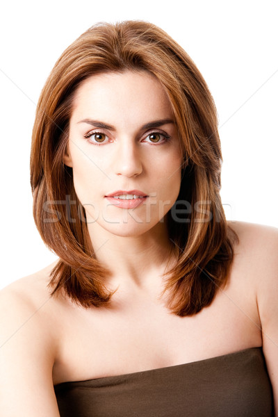 Belle Homme visage brunette naturelles pur Photo stock © phakimata