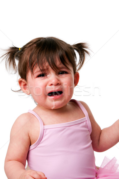 Cranky sad crying  baby toddler face Stock photo © phakimata