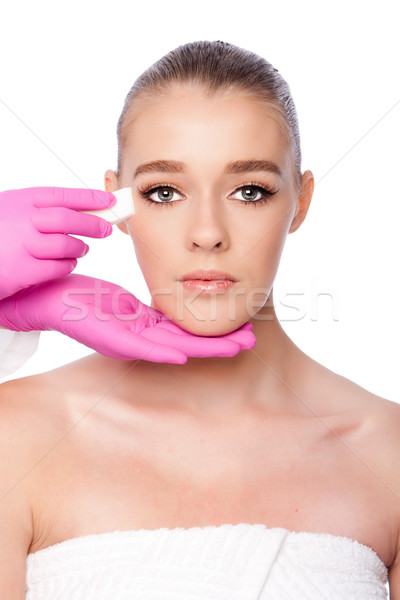 Spa piękna twarz kosmetycznych Zdjęcia stock © phakimata