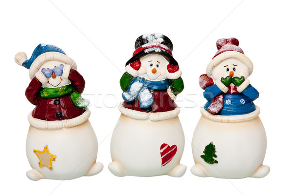 Voir parler pas mal bonhomme de neige Photo stock © phakimata