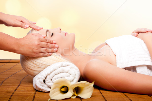 Relaxation pampering massage spa Stock photo © phakimata