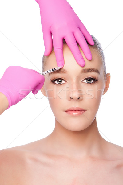 Injection facial skincare spa beauty treatment Stock photo © phakimata