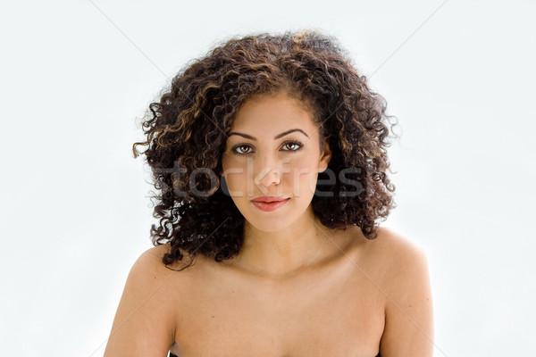 Faccia giovani bruna sincero bella Foto d'archivio © phakimata