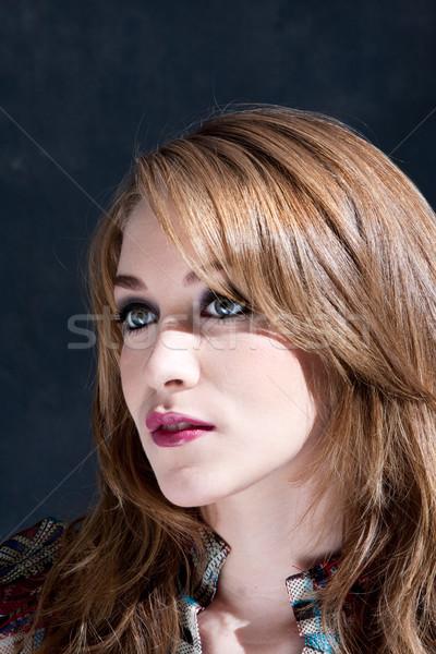 Beautiful dirty-blond woman Stock photo © phakimata
