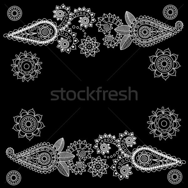 шаблон болван вектора дизайна черный Сток-фото © Phantom1311