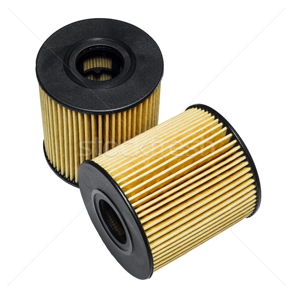Cleaning the oil filter systems in motor vehicles Stock photo © Phantom1311