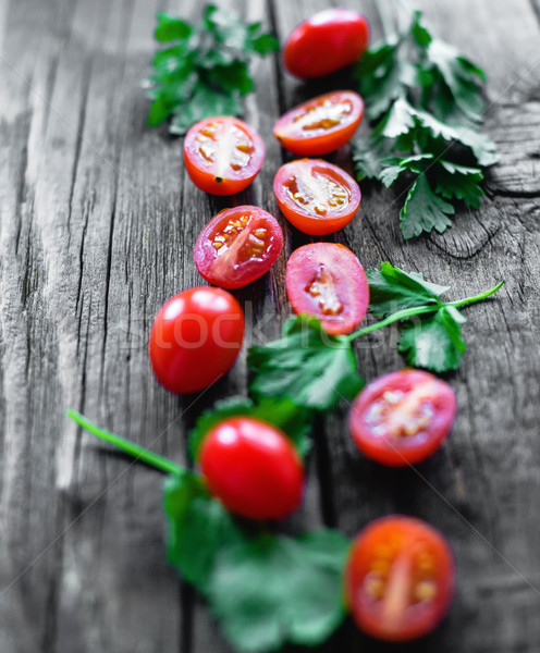 cherry tomatoes with shallow depth of field Stock photo © Phantom1311