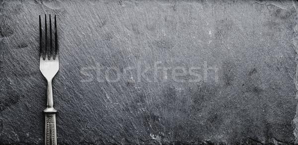 Villa fekete öreg étel űr kő Stock fotó © Phantom1311