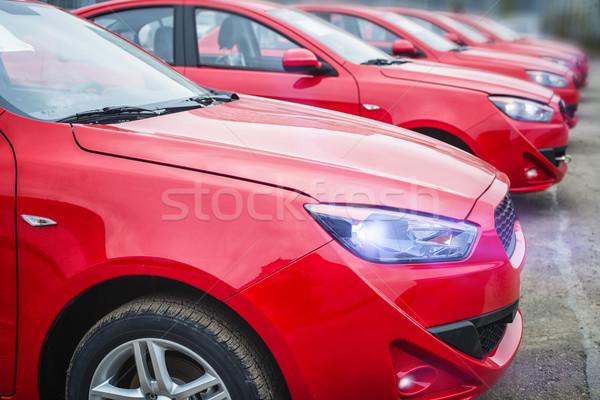 автомобилей небольшой области многие красный автомобилей Сток-фото © Phantom1311