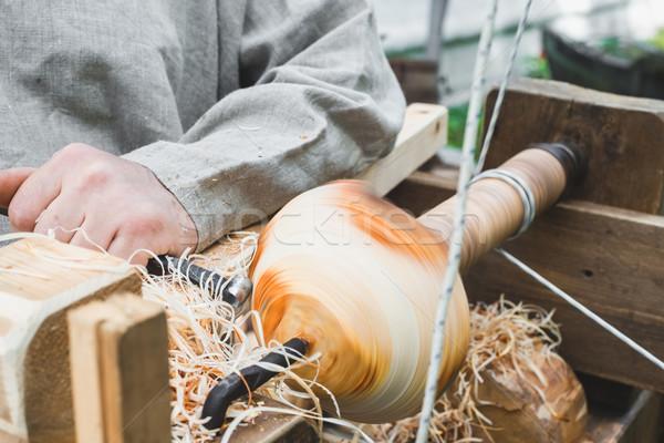 work on an old lathe Stock photo © Phantom1311
