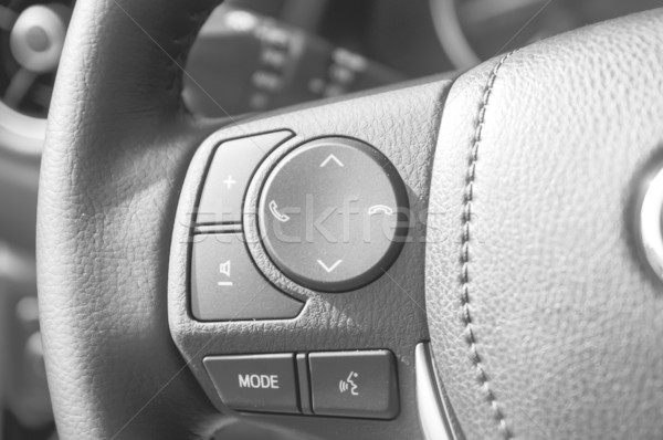 button steering wheel with shallow depth of field Stock photo © Phantom1311