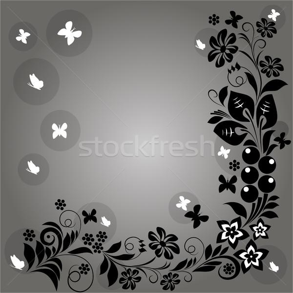 ストックフォト: デザイン · 要素 · ベクトル · パターン · 花